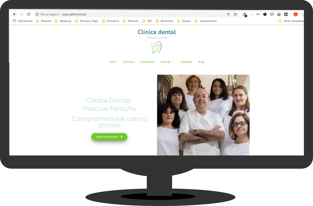 portada web clínica dental