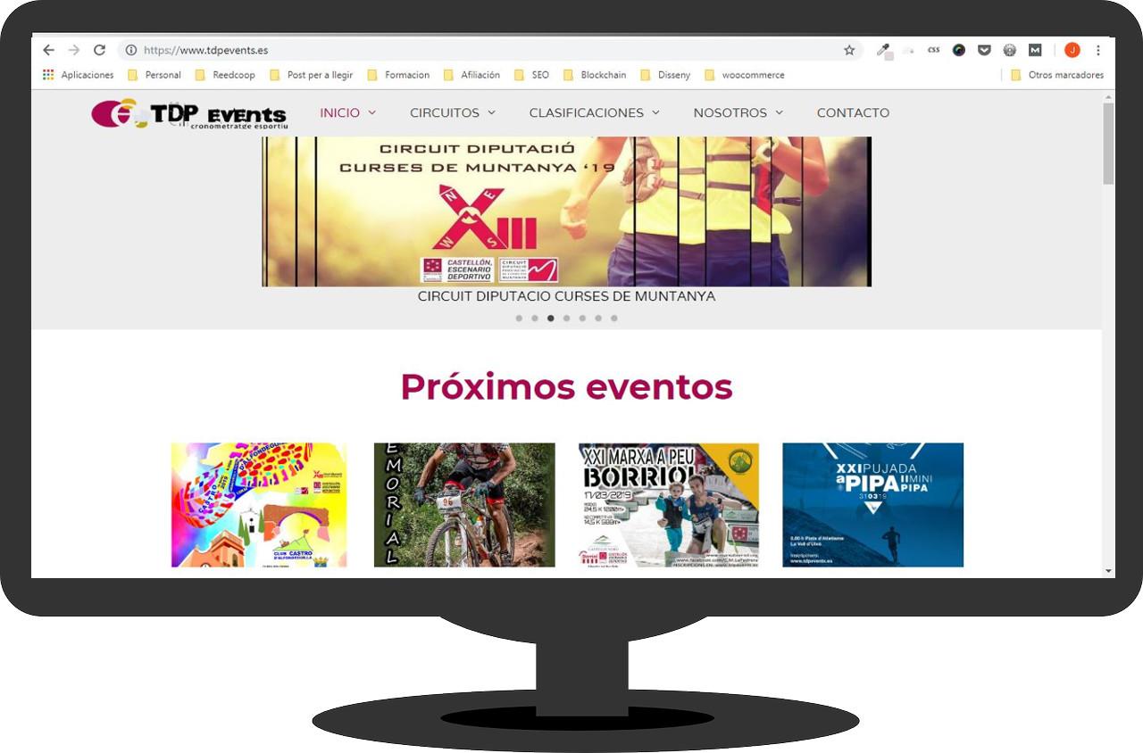 Web de inscripciones a eventos deportivos